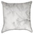 White and Grey Marble Throw Pillow