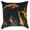 Small Colorful Koi Pond Thow Pillow