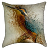 Small Fine Art Kingfisher Bird Throw Pillow