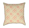 Circular Retro Peach Throw Pillow