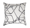 Abstract Icecube Throw Pillow in Monochrome Grey