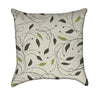 Delicate Beige Autumn Foliage Throw Pillow