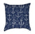 White Anchors on Navy Blue Throw Pillow