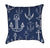 White Anchors on Navy Blue Throw Pillow Variation 2