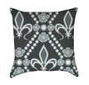 Green and Seafoam Fleur De Lis Throw Pillow