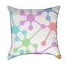 Playful Pastel Links Throw Pillow