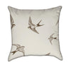 Delicate Brown Swallow Throw Pillow