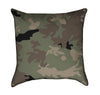 Green Military Camouflage Throw Pillow