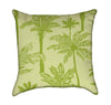 Tropical Lime Green Palms Throw Pillow