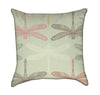 Retro Pastel Dragonfly Throw Pillow