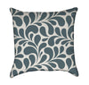 Abstract Teal Grey Flourish Throw Pillow