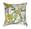 Baroque Magnolia Flowers Throw Pillow