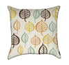 Colorful Retro Leaf Throw Pillow