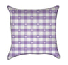 Lavender Plaid with Little White Hearts Throw Pillow