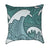Abstract Surfer Wave Throw Pillow