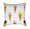 Ice Crème Cones Throw Pillow