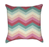 Girly Pink and Green Chevron Stripes Throw Pillow