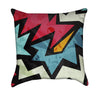 Explosive Red Black and Blue Graffiti Throw Pillow