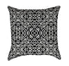 Abtract Black and White Ethnic Throw Pillow