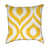 Yellow Ikat Diamond Throw Pillow