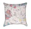 Punk Rock Princess Grunge Throw Pillow