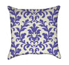 Paint Brush Periwingle Light Blue Damask Pattern Throw Pillow