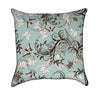 Moss Butterfly and Lily Flourish Throw Pillow