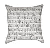 Music & Sound Black and White Throw Pillow