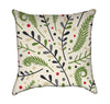 Abstract Nature Foliage Over Beige Throw Pillow