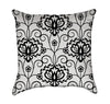 Very Girly Lace Black and White Throw Pillow