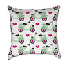 Mint Green Hot Pink Moped Love Throw Pillow