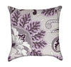 Lavender Oriental Flourish Floral Throw Pillow