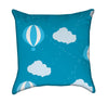 Little Boy Blue's Hot Air Balloon and Clouds Throw Pillow