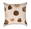 Sweet Chocolate Treats on Pink Candy Throw Pillow