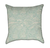Grunge Seafoam Green Wave Throw Pillow