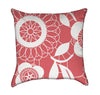 Abstract Hot Pink and White Floral Throw Pillow