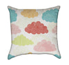 Colorful Little Rain Clouds Throw Pillow