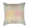 Delicate Pastel Owls on Beige Throw Pillow