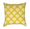 Sunny Banana Orange Dragon Fish Scales Throw Pillow