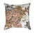 Salmon Roses And Peach Forget-Me-Not Victorian Floral Throw Pillow