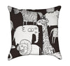 Crazy Weird Zoo Animals Growling Throw Pillow
