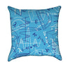 Blue Math Equations Throw Pillow