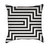 Black and White Absract Geometrical Illustration Throw Pillow
