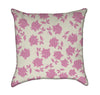Pink Roses and Polka-Dots Throw Pillow