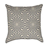 Abstract Beige and Black Ethnic Op Art Throw Pillow