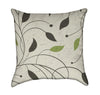 Simple Geometric Plant Pattern on Neutral Beige Throw Pillow