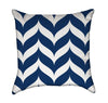 Dripping Navy Blue and White Chevron Stripes