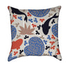 Koi Pond Tan, Periwinkle and Orange Throw Pillow
