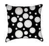 Black and White Bubble Dots Throw Pillow