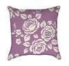 Roses White Roses Over Lavender Plum Floral Throw Pillow